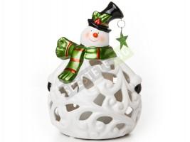 Коледен свещник снежен човек