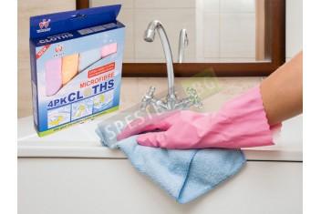 Комплект 4бр. микрофибърни кърпи
