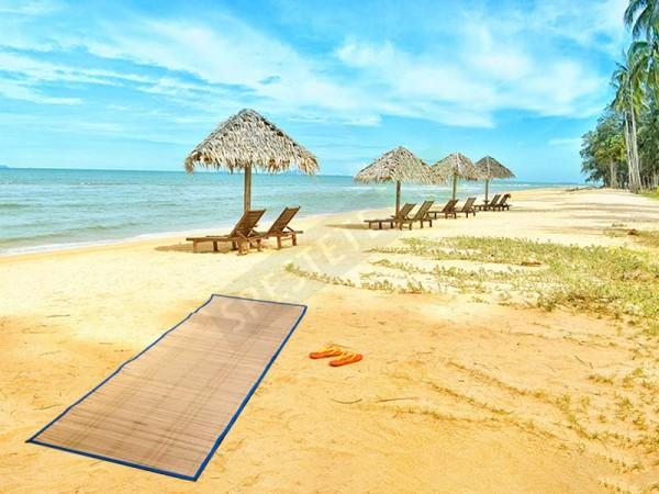 Постелка рогозка за плаж или къмпинг