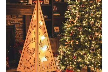 Декоративна коледна светеща пирамида