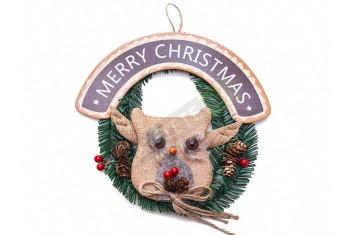 Коледен венец бухльо