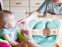 Детска чиния за хранене с отделения