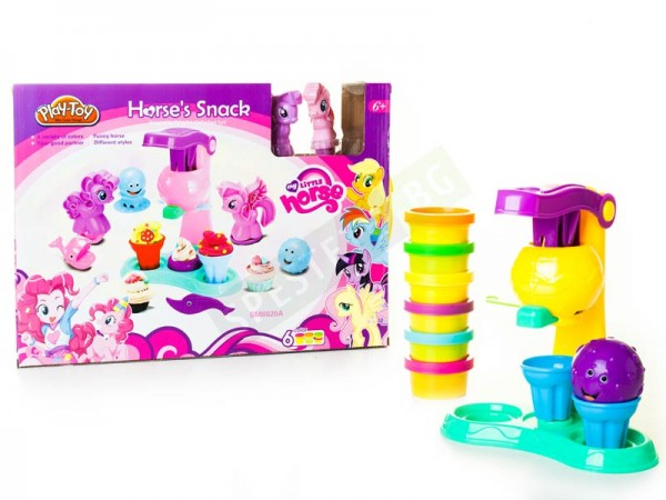 Детска машина за сладолед с цветен плателин