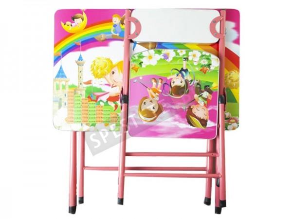 Сгъваема детска масичка със столче
