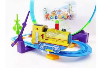 Детска писта с локомотив