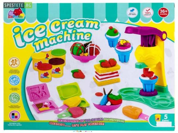 Машина за сладолед с пластелин