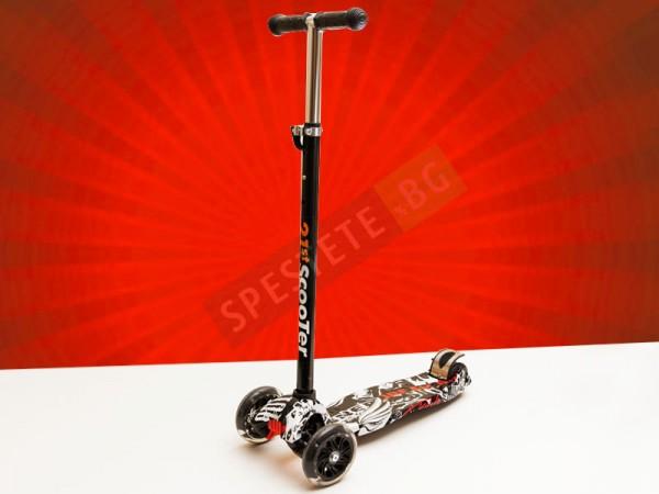 Скутер тротинетка със светещи колела