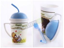 Подаръчна чаша със сламка