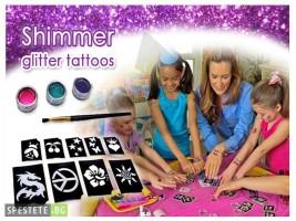 Комплект за татуировка - Shimmer Glitter Tattoos