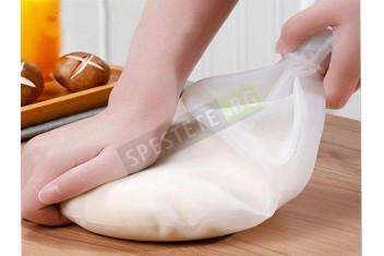 Силиконова незалепваща торба за месене на тесто