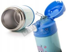 Неразливаща се термо детска чаша със сламка