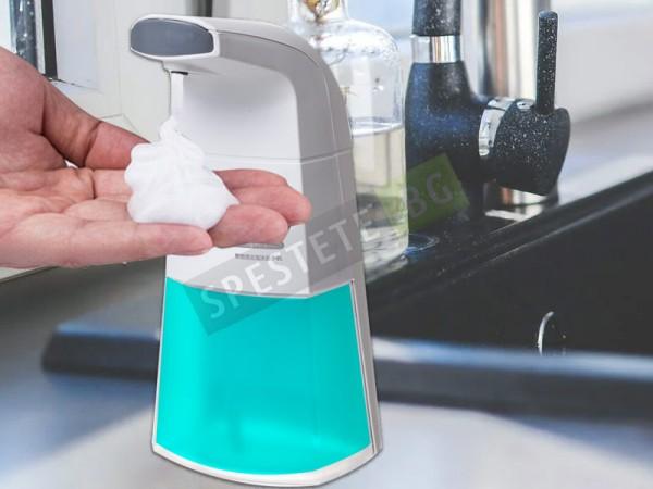Диспенсър за течен сапун на пяна