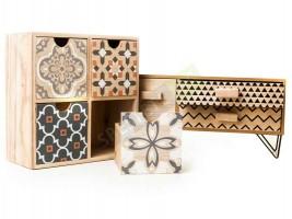 Комплект оригинални дървени шкафчета