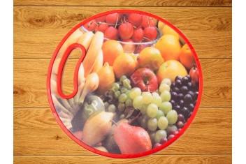 Пластмасова дъска за рязане с цветна декорация
