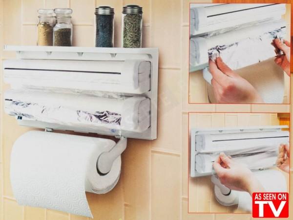 Кухненски диспенсер за хартия и фолио 3в1