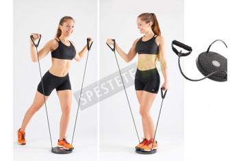 Фитнес диск за въртене с ластици