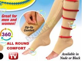 Компресиращи чорапи с цип