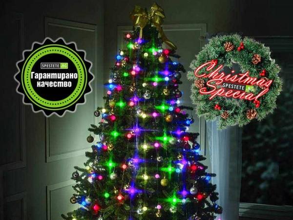 Коледни лампички за елха